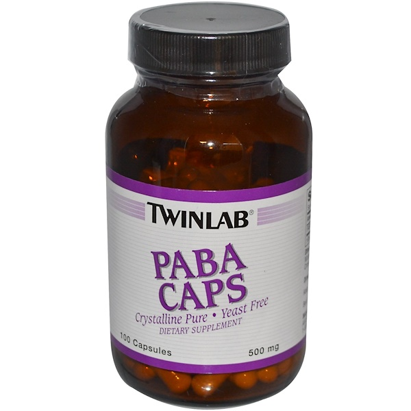 Twinlab, PABA Caps, 500 mg, 100 Capsules (Discontinued Item)