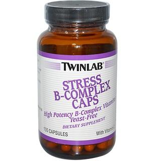 Twinlab, Stress B-Complex Caps, 100 Capsules
