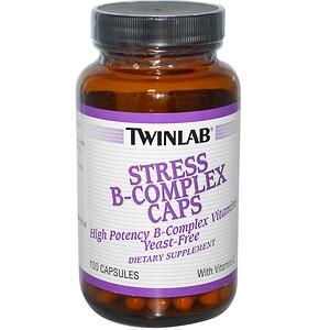 Twinlab, Stress B-Complex Caps, 100 капсул