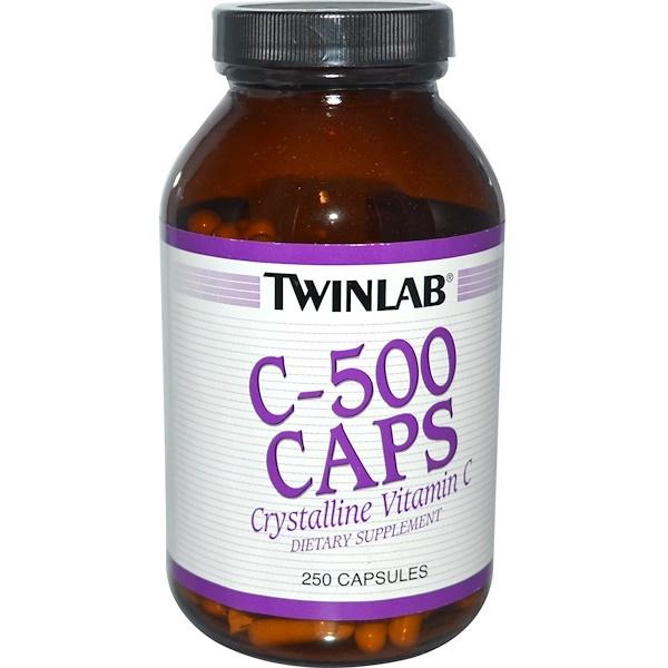 Twinlab, C-500 Caps, 250 Capsules (Discontinued Item)