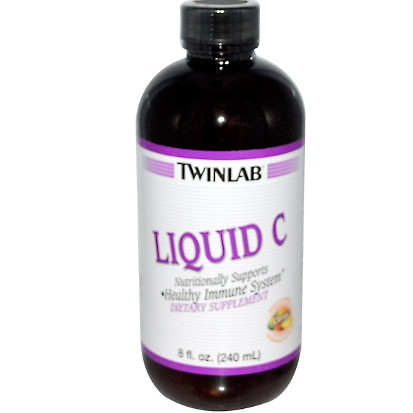 Twinlab, Liquid C, Citrus, 8 fl oz (240 ml) (Discontinued Item)