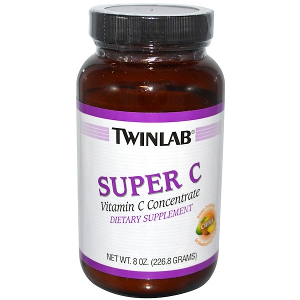 Twinlab, Super C, концентрат витамина С, цитрус, 8 унций (226,8 г) (Discontinued Item)
