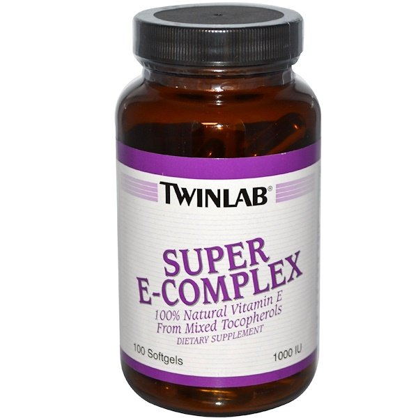 Twinlab, Super E-Complex, 1000 IU, 100 Softgels (Discontinued Item)