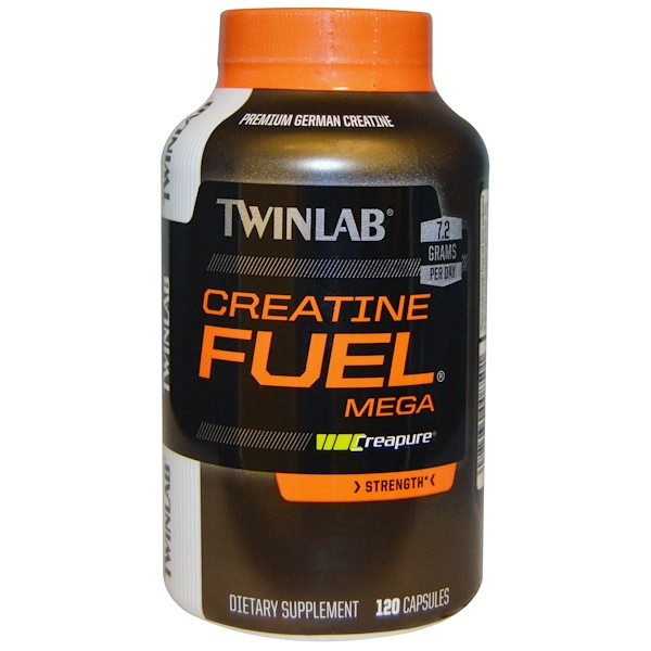Twinlab, Creatine Fuel, мега, сила, 120 капсул (Discontinued Item)