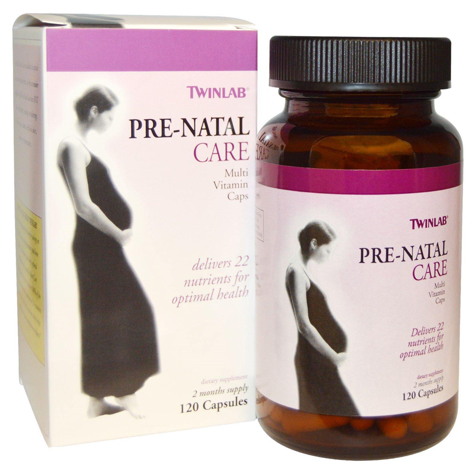 Twinlab, Pre-Natal Care мультивитамины для беременных, 120 капсул