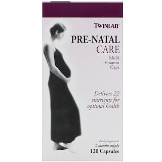 Twinlab, Pre-Natal Care Multi Vitamin Caps, 120 Capsules