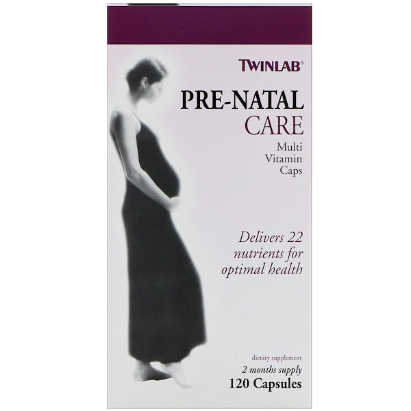 Twinlab, Pre-Natal Care Multi Vitamin Caps, 120 Capsules (Discontinued Item)