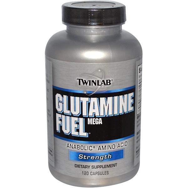 Twinlab, Glutamine Fuel Mega, Anabolic Amino Acid, Strength, 120 Capsules (Discontinued Item)