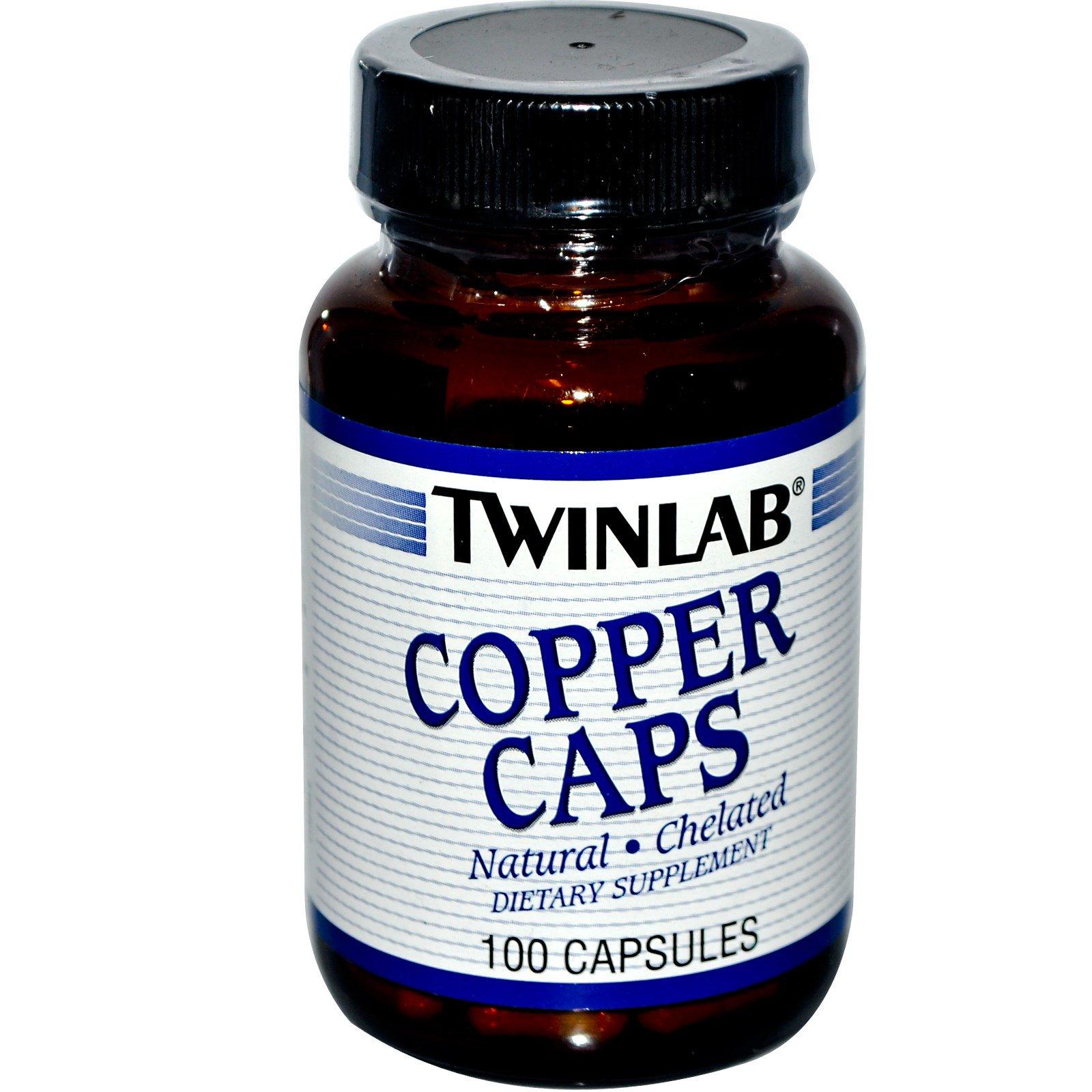 Twinlab, Медь в капсулах, 100 капсул