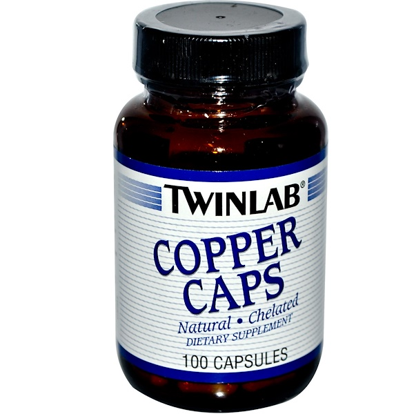Twinlab, Copper Caps, 100 Capsules