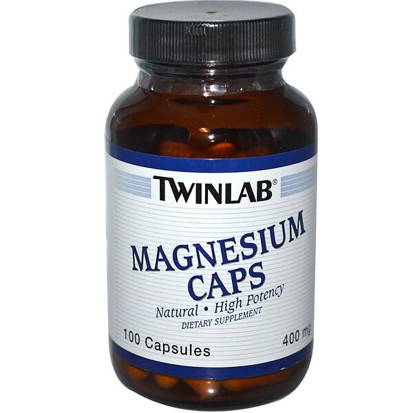 Twinlab, Magnesium Caps, 400 mg, 100 Capsules