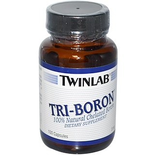 Twinlab, Tri-Boron, 3 mg, 100 Capsules