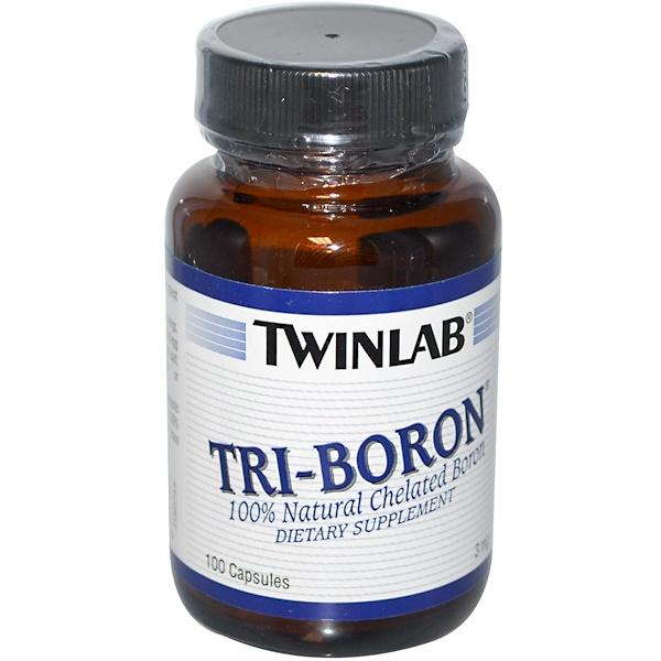 Twinlab, トリ-ボロン, 3 mg, 100 カプセル