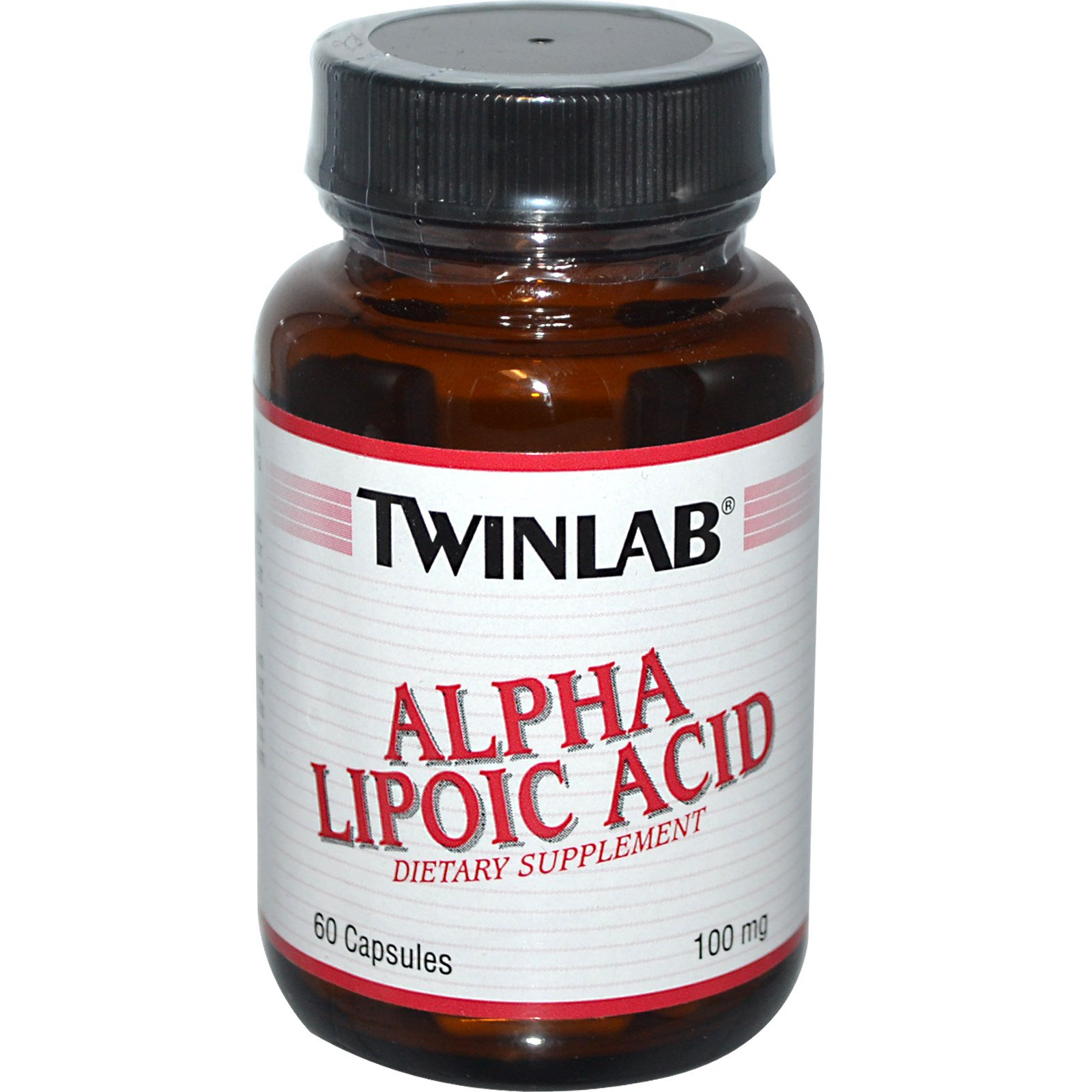 Twinlab, Альфа-липоевая кислота, 100 мг, 60 капсул