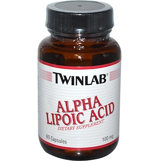 Twinlab, Alpha Lipoic Acid, 100 mg, 60 Capsules