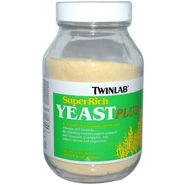 Twinlab, SuperRich Yeast Plus, 16 oz (453.6 g) Powder (Discontinued Item)