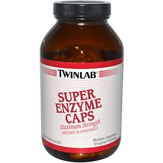 Twinlab, Super Enzyme Caps, 200 Capsules