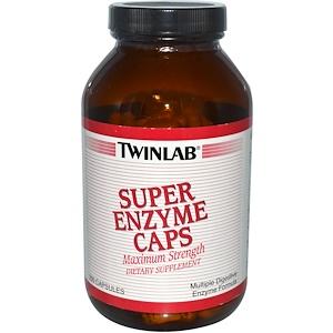 Twinlab, Супер энзимы, 200 капсул