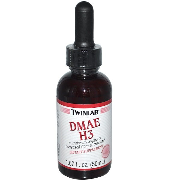 Twinlab, DMAE H3, Unflavored, 1.67 fl oz (50 ml) (Discontinued Item)
