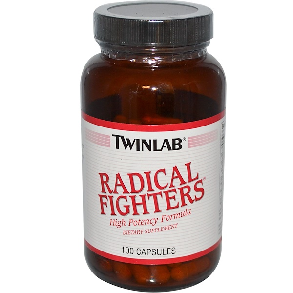 Twinlab, Radical Fighters, 100 Capsules (Discontinued Item)