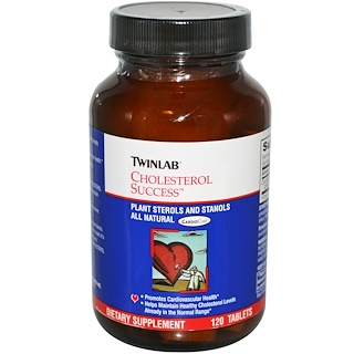Twinlab, Cholesterol Success, Средство для контроля за уровнем холестерина, 120 таблеток