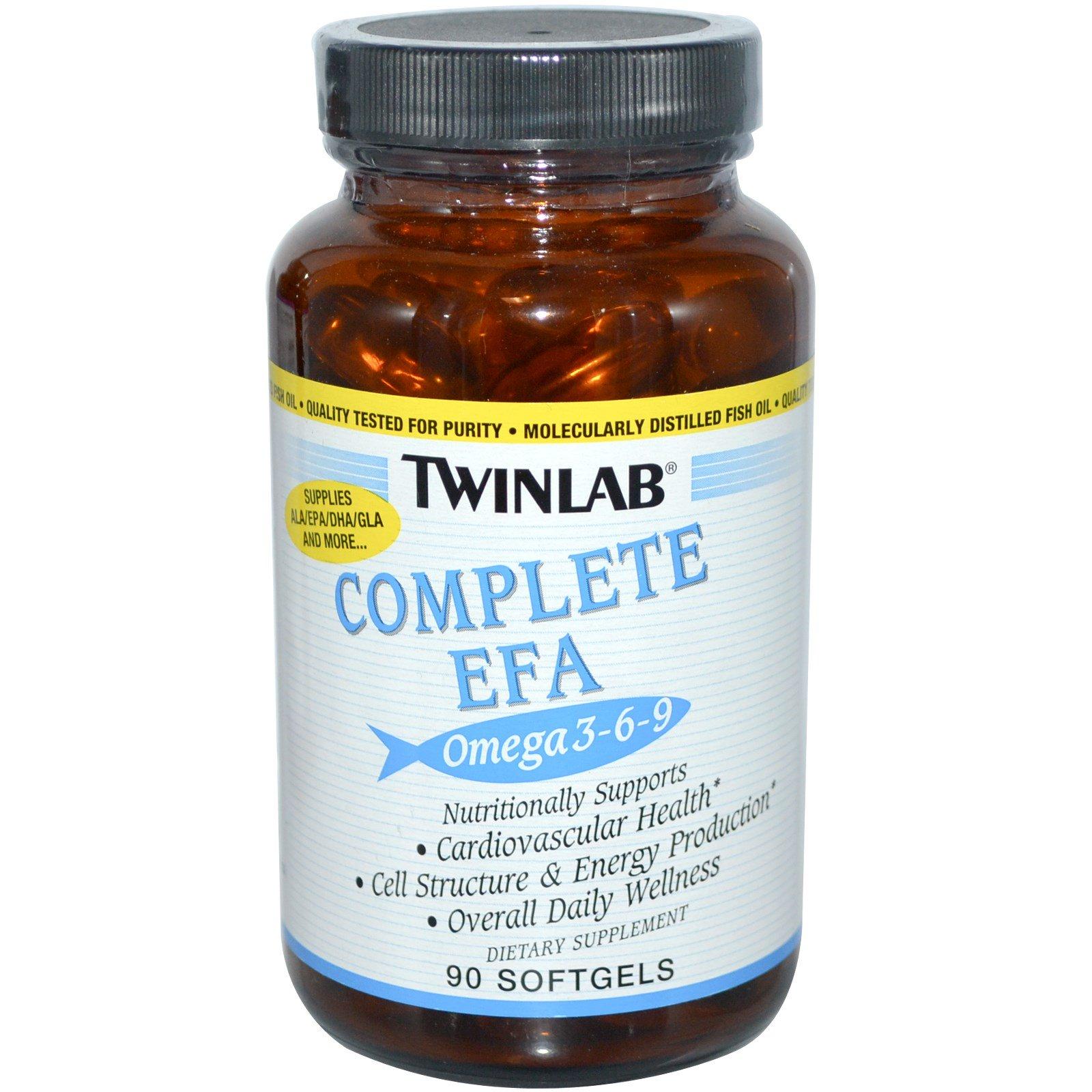 Twinlab, Complete EFA Омега 3-6-9, 90 капсул