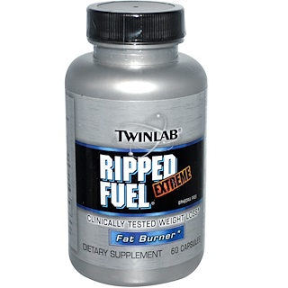 Twinlab, Ripped Fuel Extreme, Fat Burner, 60 Capsules
