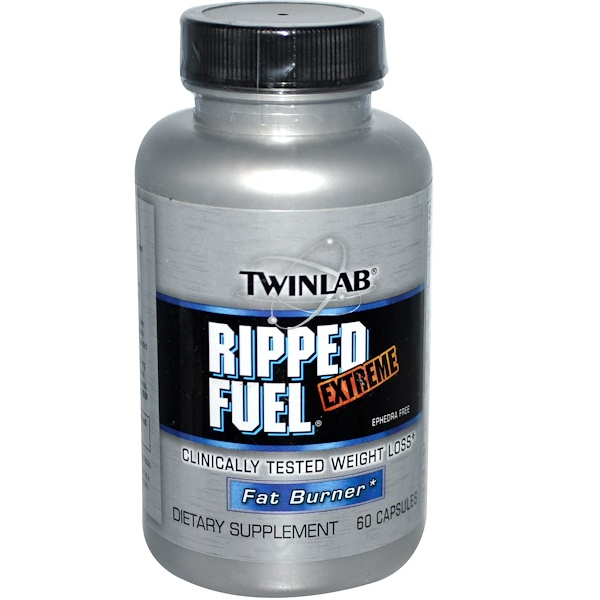 Twinlab, Ripped Fuel Extreme, Fat Burner, 60 Capsules (Discontinued Item)