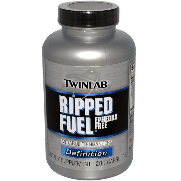 Twinlab, Ripped Fuel, Ephedra Free, 200 Capsules (Discontinued Item)