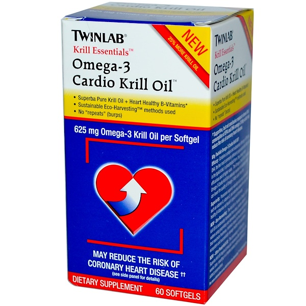 Twinlab, Krill Essentials, Omega-3 Cardio Krill Oil, 60 Softgels (Discontinued Item)