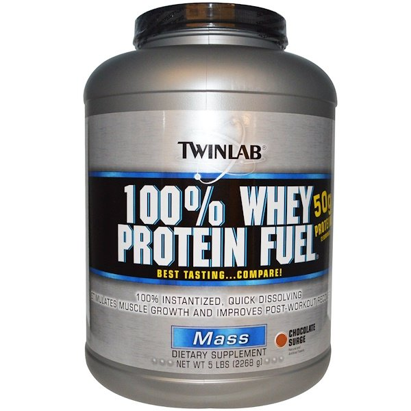 Twinlab, 100% Whey Protein Fuel, Mass, Chocolate Surge, 5 lbs (2268 g) (Discontinued Item)