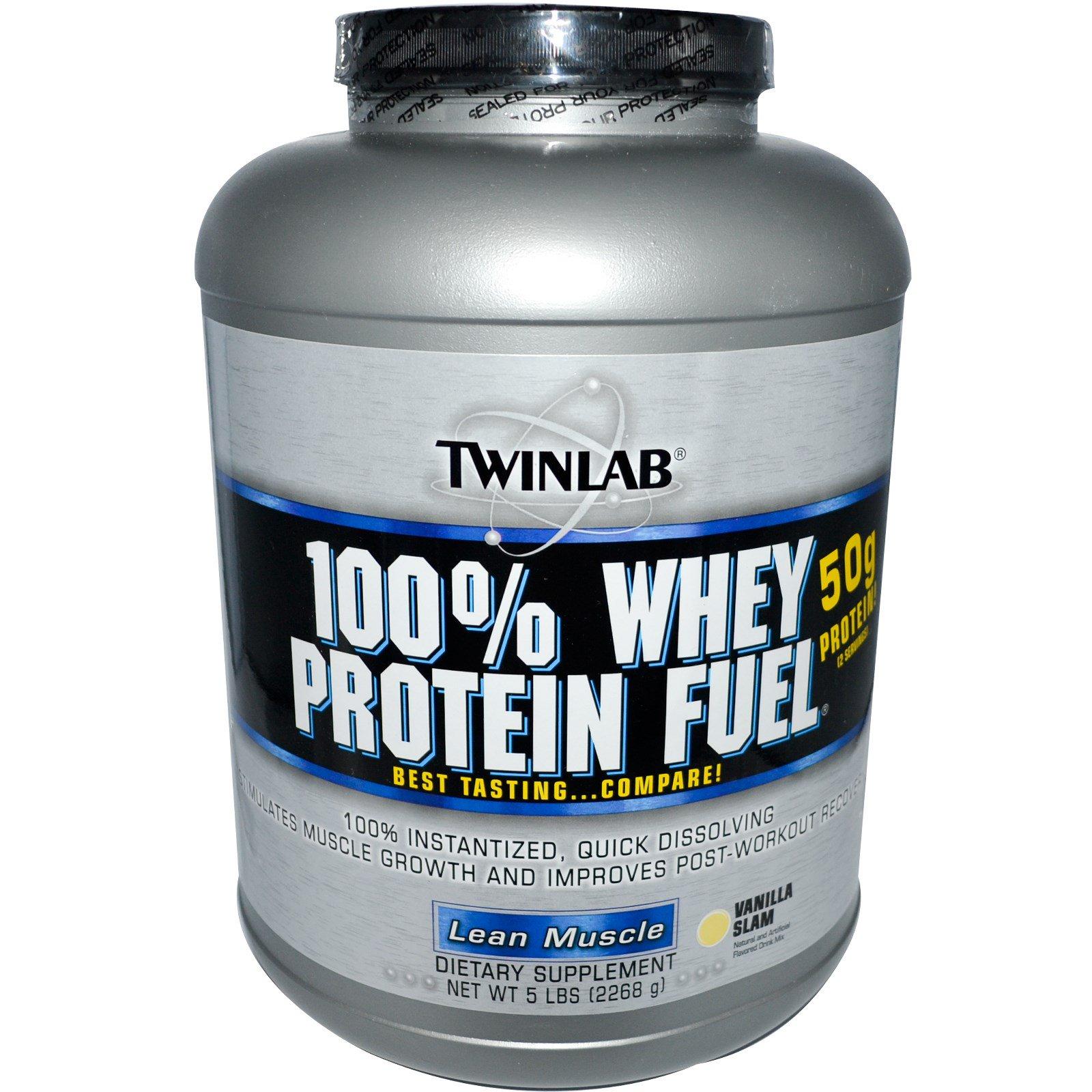 Twinlab 100 Whey Protein Fuel Lean Muscle Vanilla Slam 5 Lbs