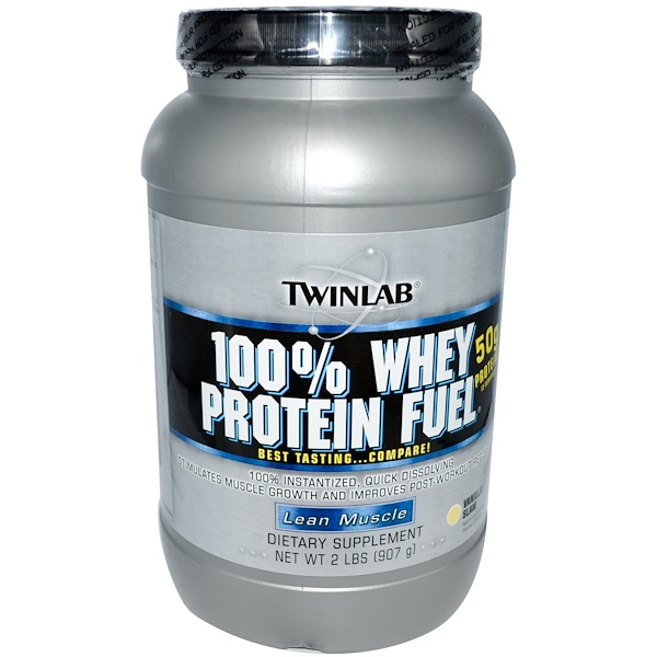 Twinlab, 100% Whey Protein Fuel, Lean Muscle, Vanilla Slam, 2 lbs (907 g) (Discontinued Item)