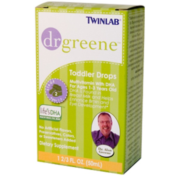 Twinlab, Dr. Greene, Toddler Drops, Multivitamin with DHA, 1 2/3 fl oz (50 ml) (Discontinued Item)