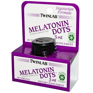 Twinlab, Melatonin Dots, 3 mg, 60 Tablets