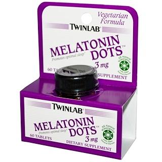 Twinlab, メラトニンドット、3 mg、60錠
