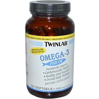 Twinlab, Omega-3 Fish Oil, 100 Softgels