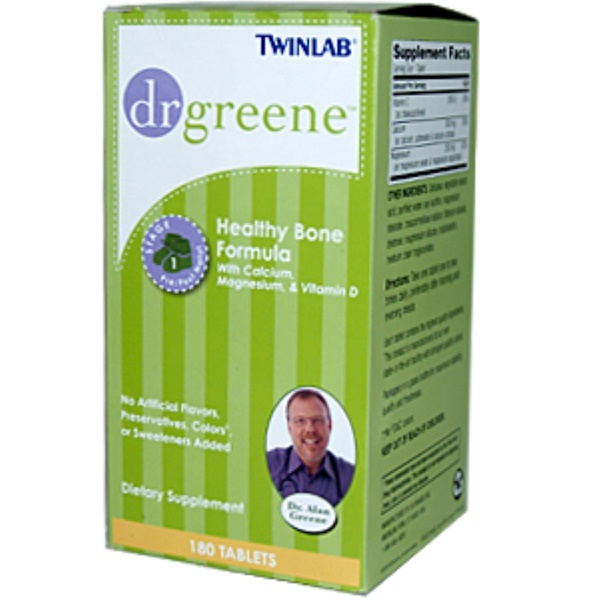 Twinlab, Dr. Greene, Healthy Bone Formula with Calcium, Magnesium & Vitamin D, 180 Tablets (Discontinued Item)