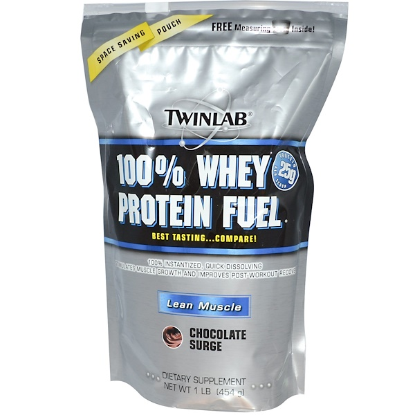 Twinlab, 100% Whey Protein Fuel, Lean Muscle, Chocolate Surge, 1 lb (454 g) (Discontinued Item)