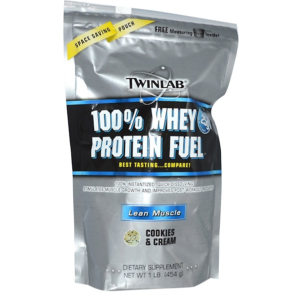 Twinlab, 100% Whey Protein Fuel, Lean Muscle, Cookies & Cream, 1 lb (454 g) (Discontinued Item)
