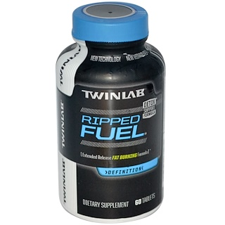 Twinlab, Ripped Fuel, Extended Released Fat Burning Formula, 60 Tablets
