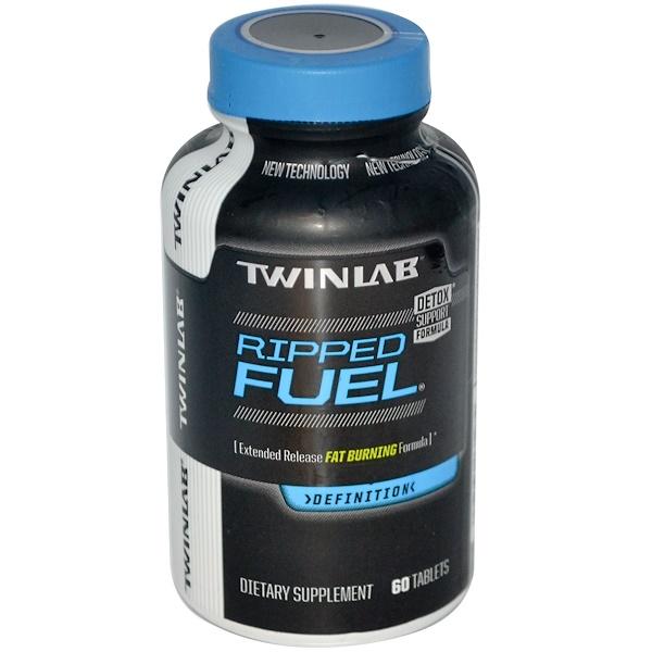 Twinlab, 撕裂燃料,延長釋放脂肪燃燒配方,60片