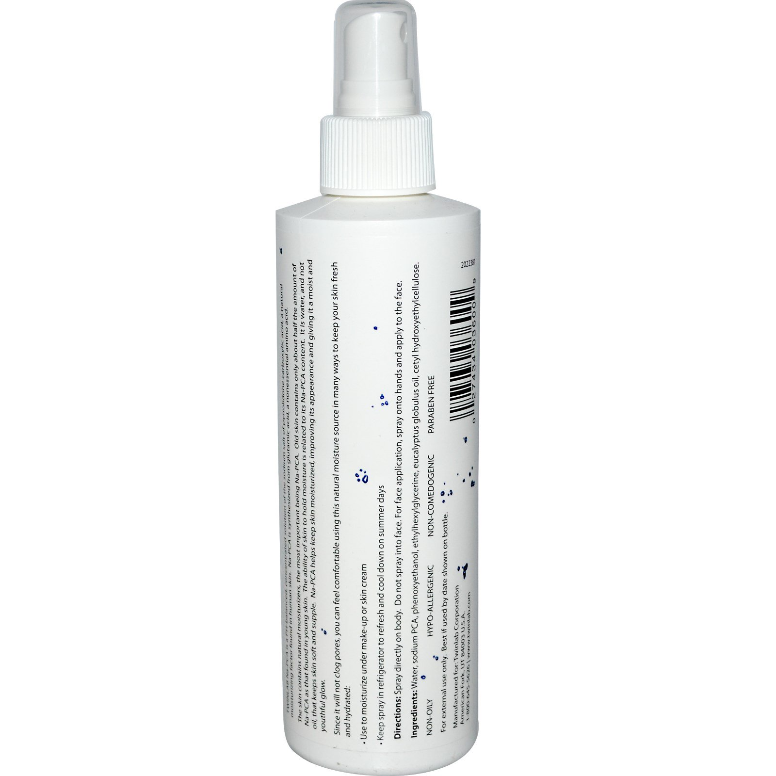 Twinlab Na Pca For Face And Body 8 Fl Oz 237 Ml Napca Moist Click To Zoom
