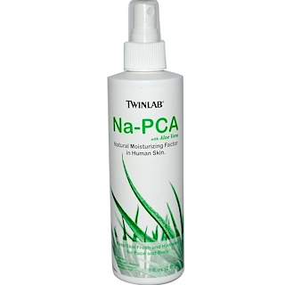 Twinlab, Na-PCA with Aloe Vera, For Face and Body, 8 fl oz (237 ml)