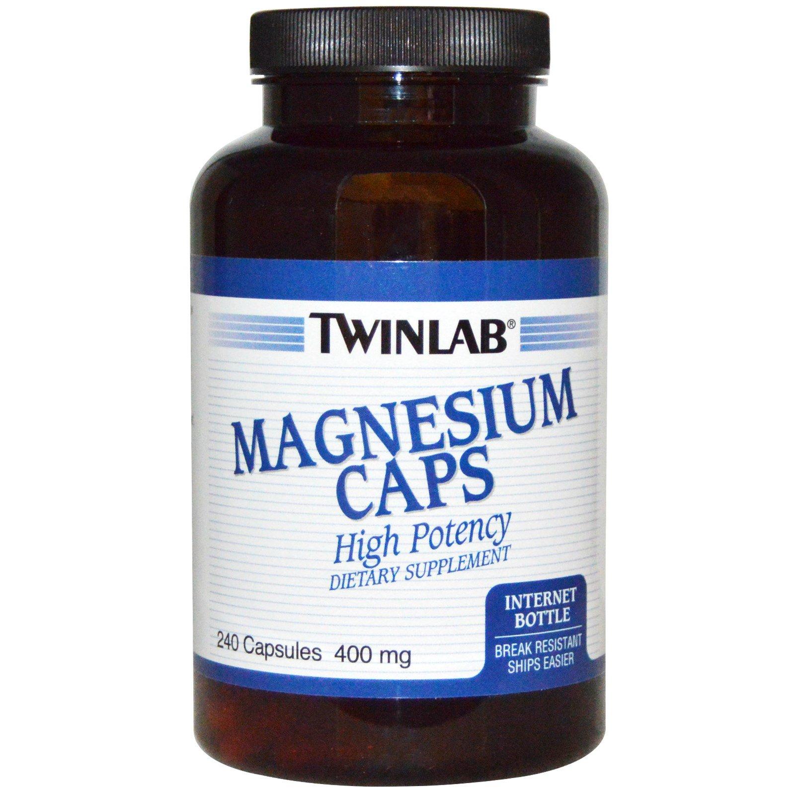 Twinlab, Капсулы магния, 400 мг, 240 капсул