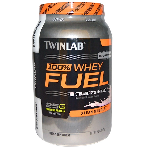 Twinlab, 100% Whey Fuel, Lean Muscle, Strawberry Shortcake, 2 lbs (907 g) (Discontinued Item)