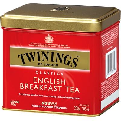 Классический листовой чай, English Breakfast, 7,05 унций (200 г) чай листовой gutenberg чай персиковый
