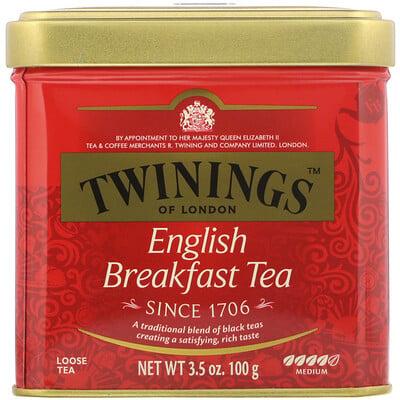 Классический, листовой чай «Английский завтрак», 3.53 унций (100 г) чай листовой gutenberg чай персиковый