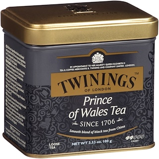 Twinings, Чай Prince of Wales россыпью, 3,53 унции (100 г)