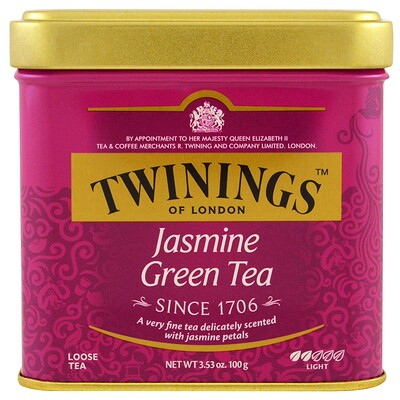 Jasmine Green, Loose Tea, 3.53 oz (100 g) цена 2017